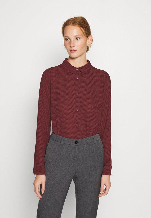 FILO PRINT - Skjortebluser - maroon grid