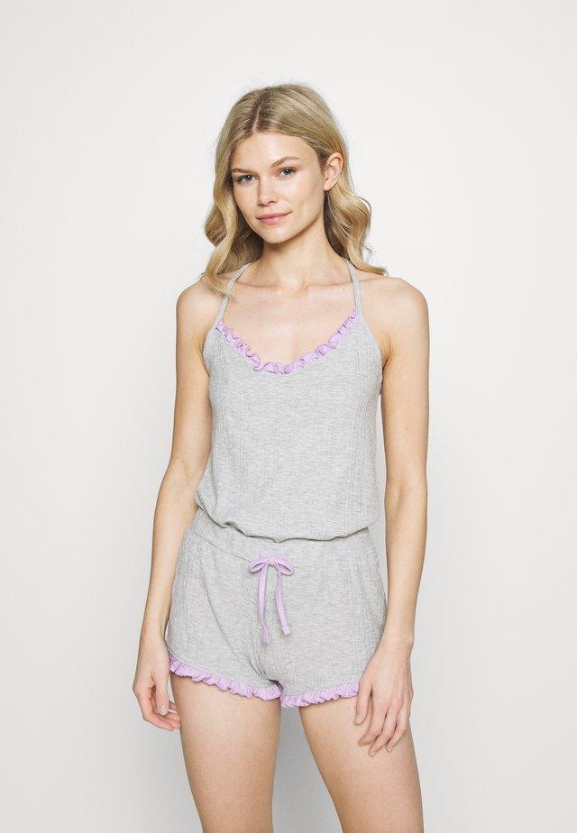 FRILL CAMI - Pijama - grey marl