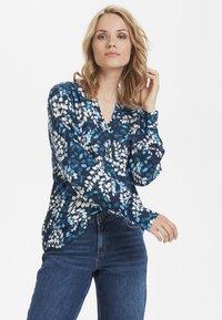 Kaffe - Button-down blouse - dark blue - 3