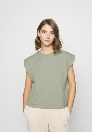 SLEEVE DETAIL - Basic T-shirt - khaki