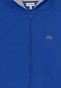 Lacoste Sport - TENNIS - Mikina na zip - blue/light grey - 3
