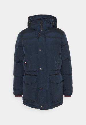 Kabát zprachového peří - blue