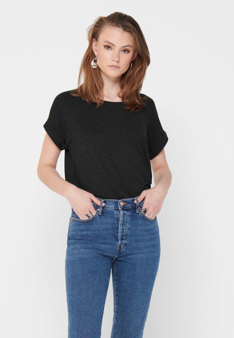 ONLY - ONLMOSTER ONECK - T-shirts - dark grey melange