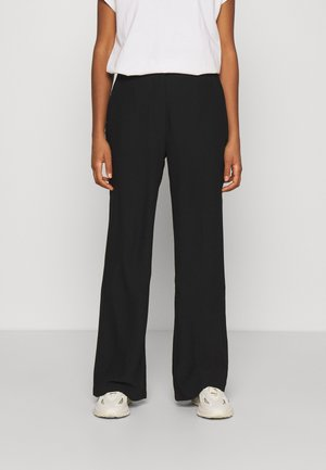 SHAPED SUIT PANTS - Trousers - black