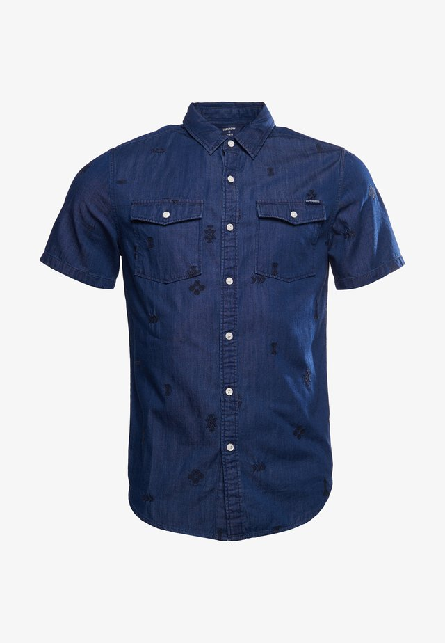 Overhemd - rinse wash emb