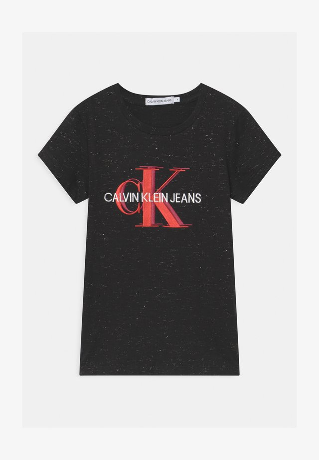 OVERLAPPING MONOGRAM - T-shirts med print - black