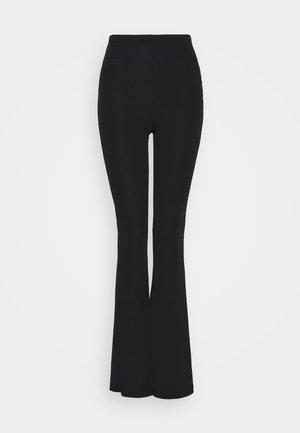 2 PACK FINE TROUSERS - Spodnie materiałowe - black