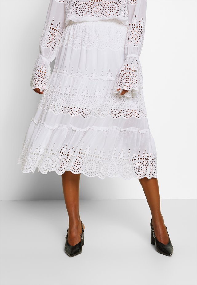 ANGELA SKIRT - Maksihame - white