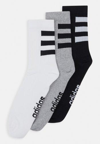 3 STRIPES ESSENTIALS SPORTS CREW SOCKS 3 PACK - Sports socks - white/black/medium grey heather
