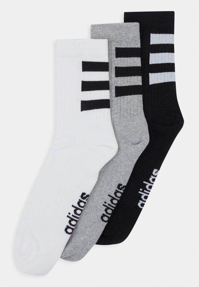 3 STRIPES ESSENTIALS SPORTS CREW SOCKS 3 PACK - Sportovní ponožky - white/black/medium grey heather