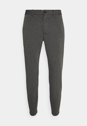 PANTS SLIM FIT TAPERED LEG - Trousers - anthra melange