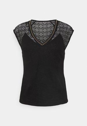 DELAN - Print T-shirt - noir