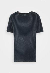 SLHMORGAN  - T-shirt med print - dark sapphire/bright white