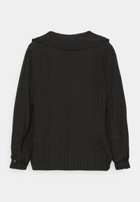 Missguided Plus - PLUS EXAGGERATED COLLAR SHIRT - Blouse - black - 1