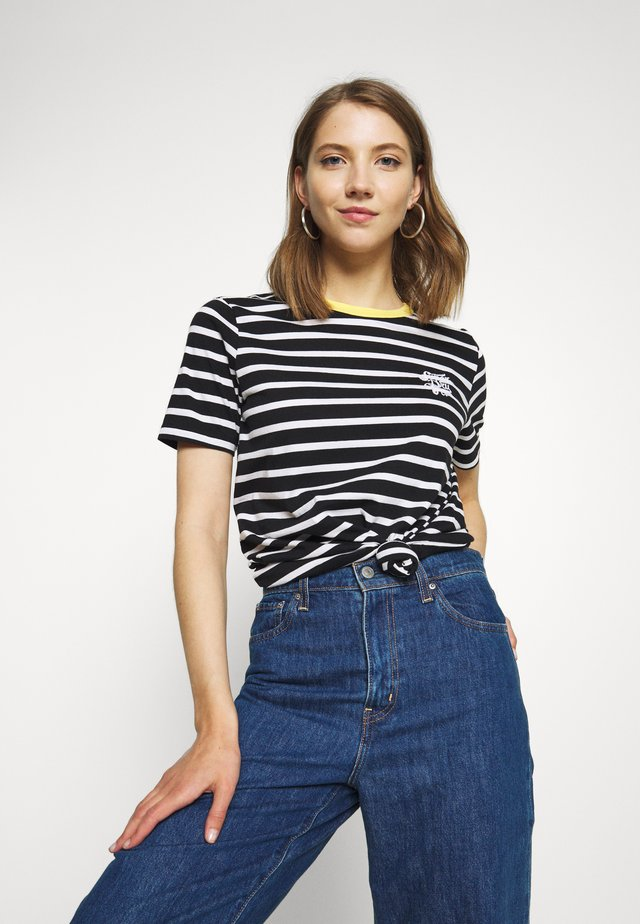 DAKOTA STRIPE GRAPHIC TEE - T-shirts med print - black