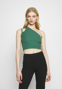 Weekday - STRAP CROP 2 PACK - Top - green/black - 1