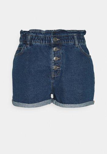 ONLBAY LIFE PAPERBAG - Denim shorts - medium blue denim