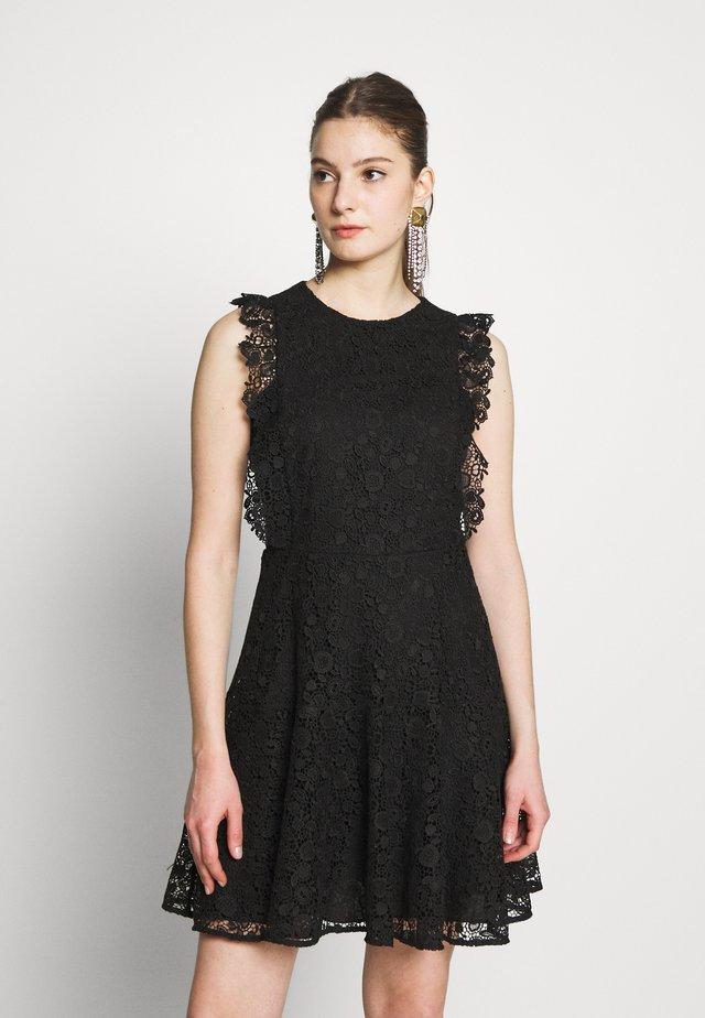 TRIGUN ABITO MACRAME MELA - Vestido de cóctel - black
