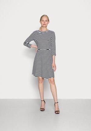 FIT AND FLARE DRESS - Vestito di maglina - black