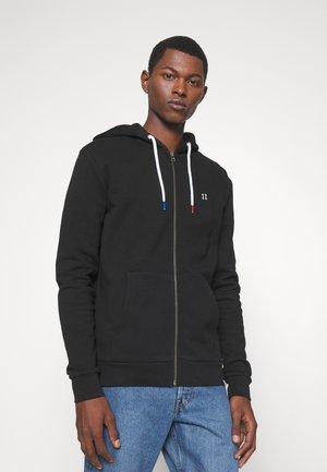 FRENCH ZIPPER HOODIE - Sweater met rits - black