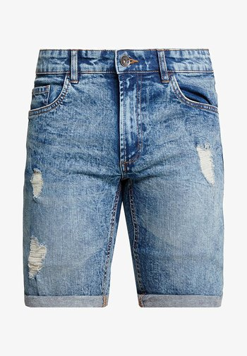 OSLO DESTROY - Shorts vaqueros - frozen blue
