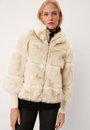 Winter jacket - beige melange