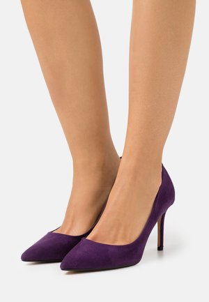 WIDE FIT DELE POINT STILETTO - Classic heels - purple