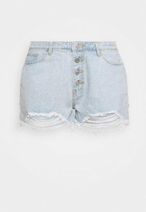 RIOT HIGHWAIST DISTRESS MOM - Shorts di jeans - blue
