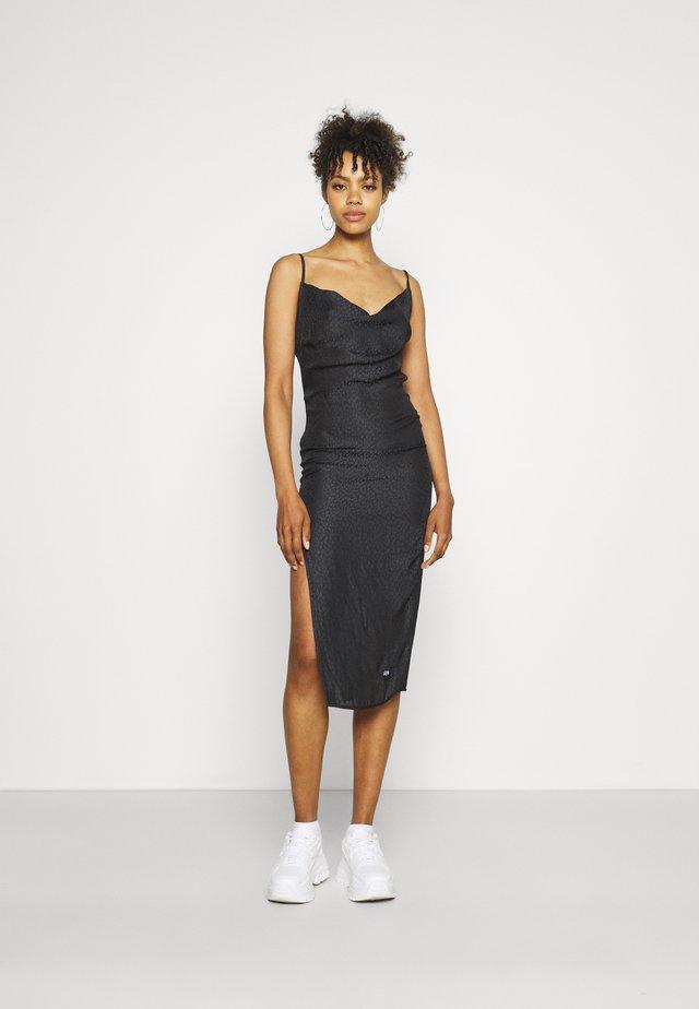 LEOPARD DRESS - Sukienka koktajlowa - black