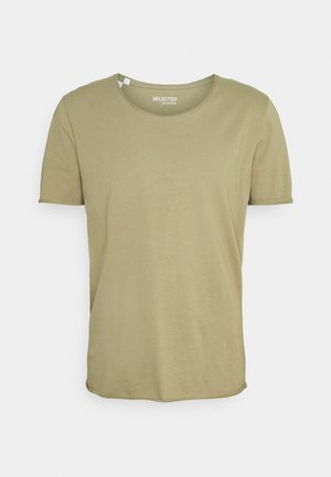 SLHWYATT O NECK TEE  - T-shirt - bas - aloe