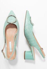 Dorothy Perkins - EMMA CROC SLING POINT - Classic heels - green - 3
