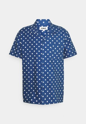 MALICK - Shirt - blue/ecru