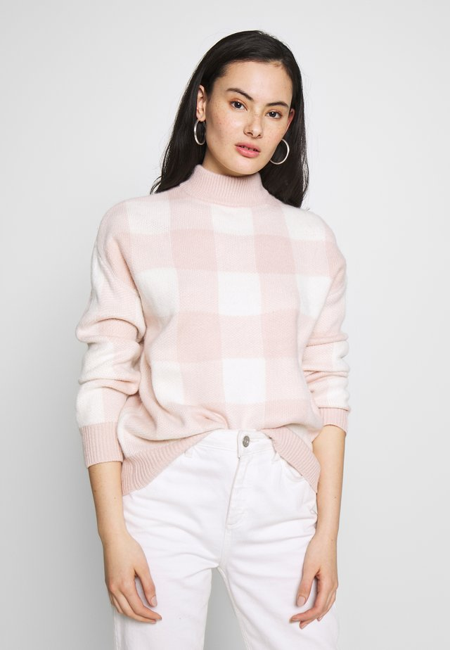 PRETTY  JUMPER - Jumper - pink/cream