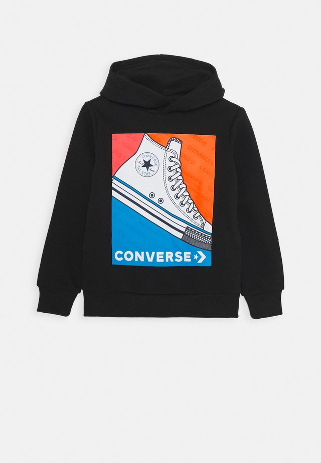 COLOURBLOCK SNEAKER HOODIE - Bluza z kapturem - black
