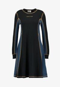 MANDY DRESS - Jersey dress - black colorblock