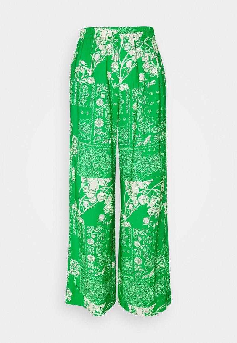 Holzweiler - LUKA PRINT TROUSER - Pantalon classique - green mix