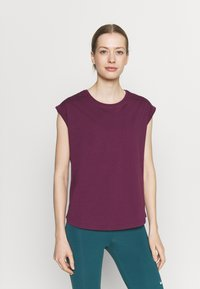 Even&Odd active - 2 PACK - T-shirt basic - purple/teal - 3