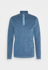Marc O'Polo - LONG SLEEVE FLATLOCK DETAILS - Polo shirt - deep dive - 4