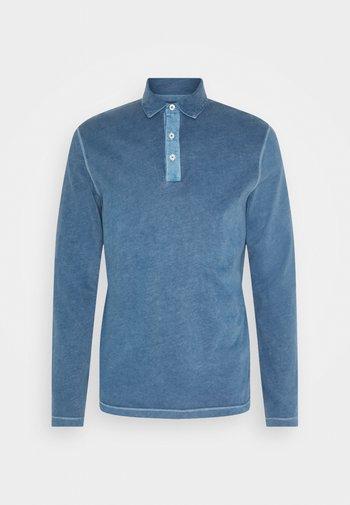 LONG SLEEVE FLATLOCK DETAILS - Polo shirt - deep dive