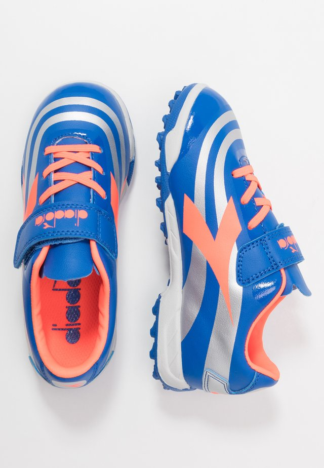 RB10 MARS R TF - Astro turf trainers - royal/silver/red fluo
