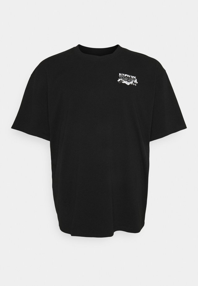 LOGO MAP CHEST - T-shirt print - black