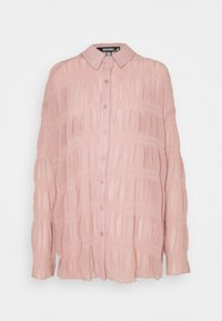 Missguided - SHEER CRINKLE EXTREME OVERSIZED SHIRT - Button-down blouse - blush - 4