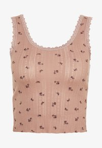 BDG Urban Outfitters - DITSY POINTELLE TANK - Top - rose - 0