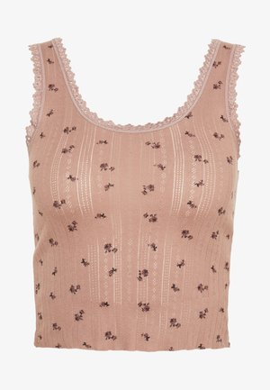 DITSY POINTELLE TANK - Topper - rose