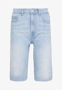 Noisy May Tall - NMBE BERMUDA  - Jeansshort - light blue denim - 0