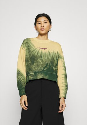 HIGH BOXY RETRO - Sweater - oil green