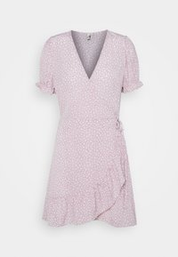 Nly by Nelly - PRINTED WRAP DRESS - Day dress - lilac floral - 0