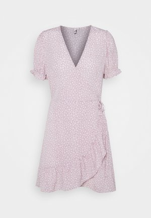 PRINTED WRAP DRESS - Kjole - lilac floral