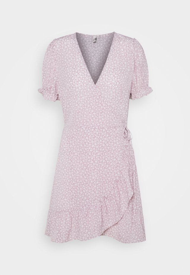 PRINTED WRAP DRESS - Vardagsklänning - lilac floral