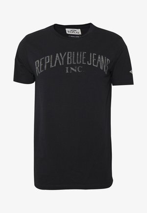 T-shirt med print - off-black